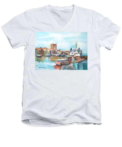 A Curacao Morning Men's V-Neck T-Shirt