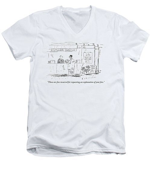 A Customer Service Representative Speaks To A Man Men's V-Neck T-Shirt