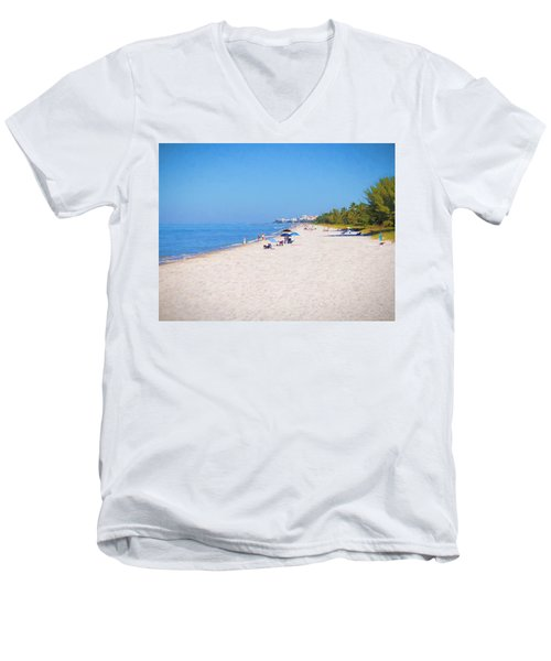 A Day At Naples Beach Men's V-Neck T-Shirt
