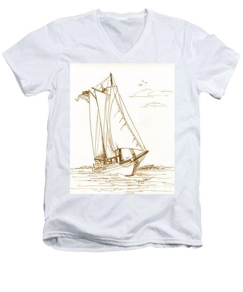 A Day On The Bay Men's V-Neck T-Shirt