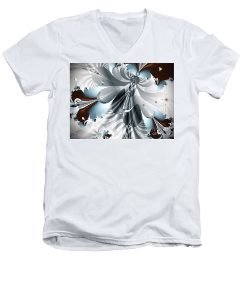 A Deeper Reflection Abstract Art Prints Men's V-Neck T-Shirt