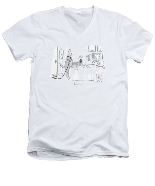 A Dog Unties His Leash Men's V-Neck T-Shirt