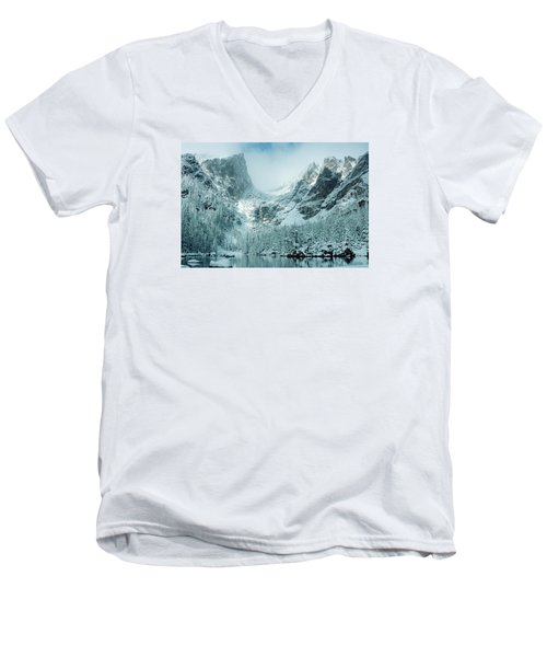 A Dream At Dream Lake Men's V-Neck T-Shirt by Eric Glaser