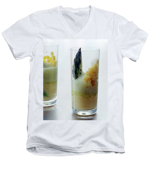 A Drink With Asparagus Men's V-Neck T-Shirt by Romulo Yanes