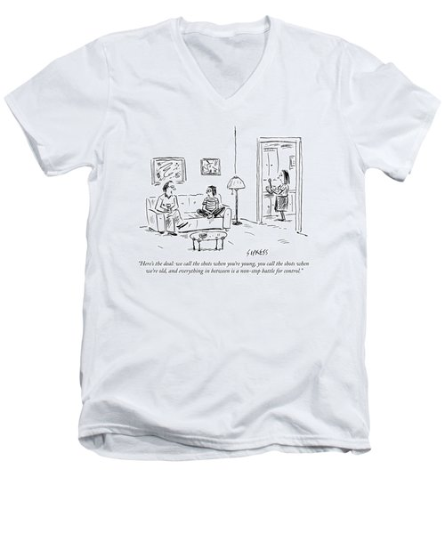 A Father Says To His Son Men's V-Neck T-Shirt