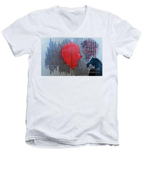 A Glance Of The Wind Men's V-Neck T-Shirt