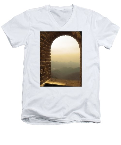 Men's V-Neck T-Shirt featuring the photograph A Great View Of China by Nicola Nobile