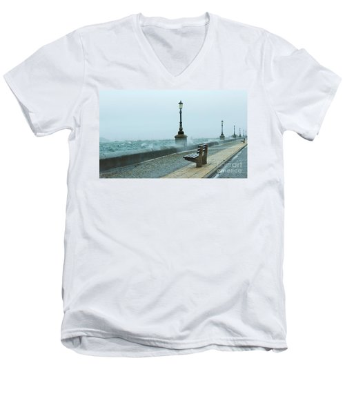 A Grey Wet Day By The Sea Men's V-Neck T-Shirt