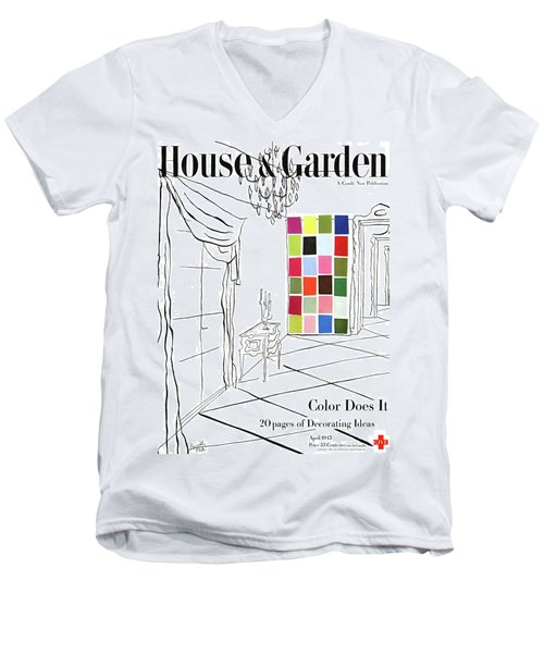 A House And Garden Cover Of Color Swatches Men's V-Neck T-Shirt