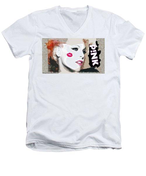 A Kiss On The Cheek Men's V-Neck T-Shirt