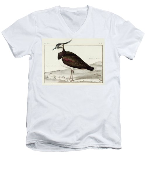 A Lapwing Men's V-Neck T-Shirt by Nicolas Robert
