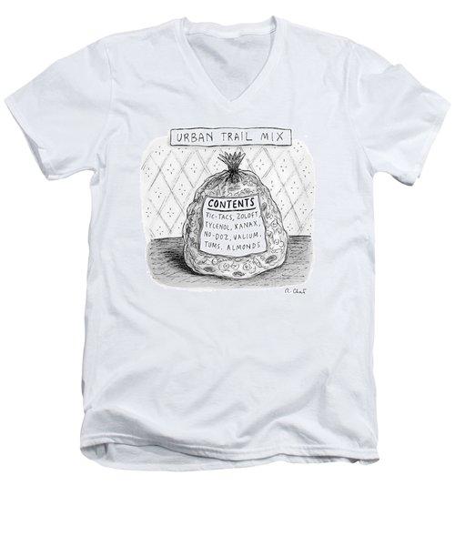 Urban Trail Mix Men's V-Neck T-Shirt