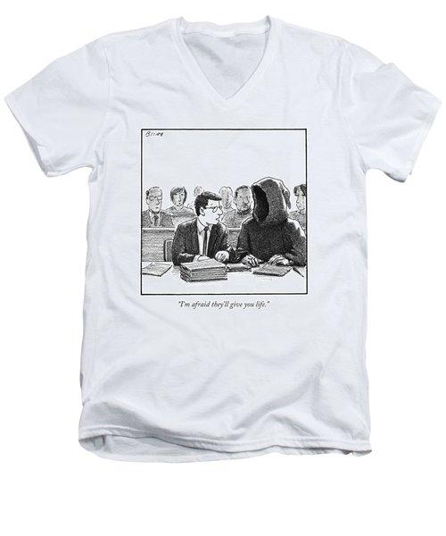 A Lawyer Talks To His Client Men's V-Neck T-Shirt
