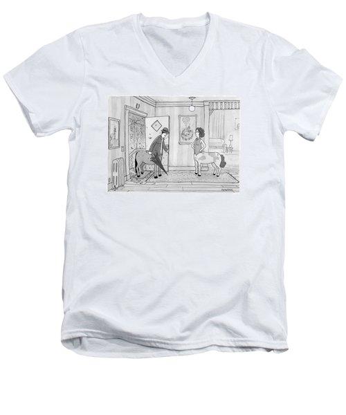A Male Centaur Men's V-Neck T-Shirt