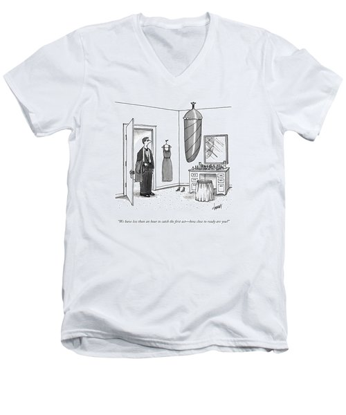 A Man In A Tuxedo Men's V-Neck T-Shirt