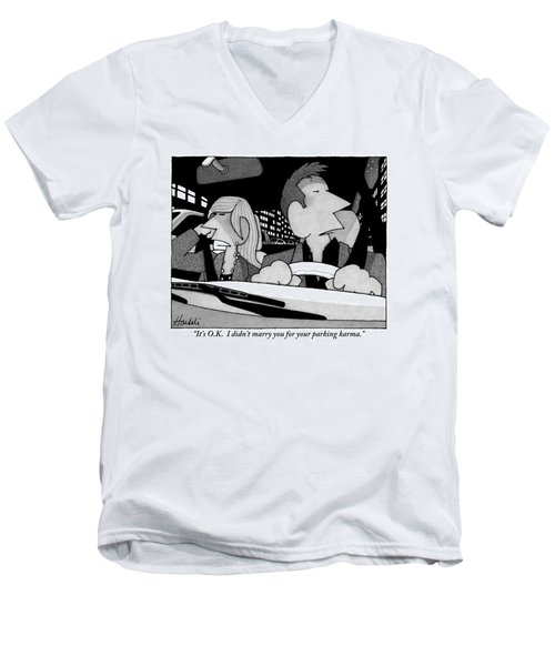 A Married Couple Are Seen In The Front Seats Men's V-Neck T-Shirt