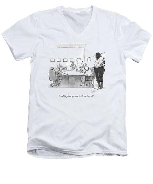 A Medieval Prisoner And Executioner Partake Men's V-Neck T-Shirt
