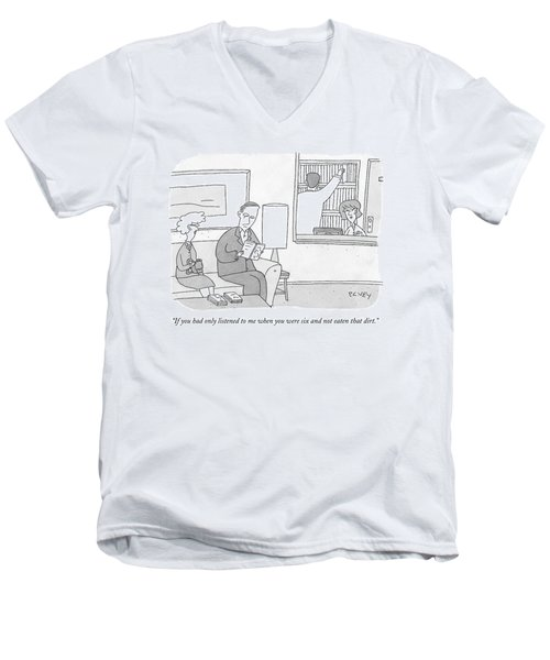 A Mother Speaks To Her Son Men's V-Neck T-Shirt