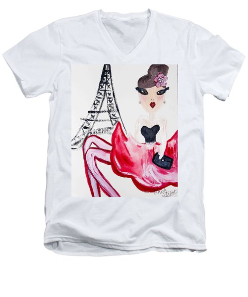 A Night In Paris Men's V-Neck T-Shirt