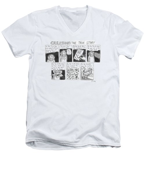 A Panel Called Creation: The True Story Which Men's V-Neck T-Shirt