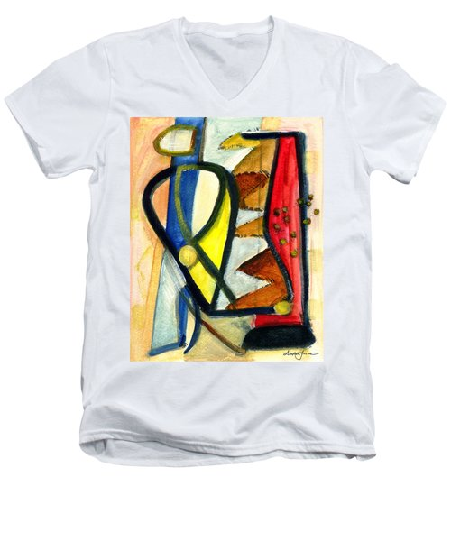 Men's V-Neck T-Shirt featuring the painting A Perfect Image by Stephen Lucas