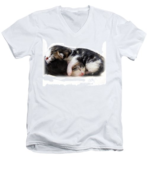 A Pile Of Pussies Men's V-Neck T-Shirt