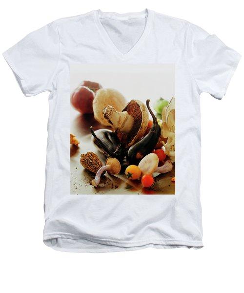 A Pile Of Vegetables Men's V-Neck T-Shirt