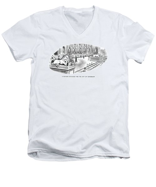 A Revised Statuary For The City Of Tomorrow Men's V-Neck T-Shirt