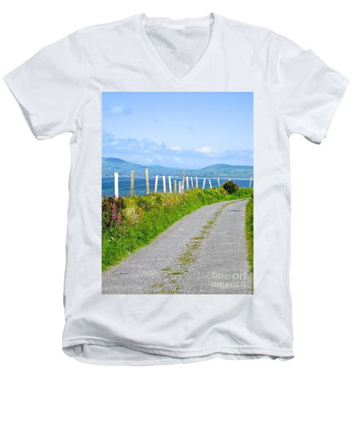 A Road To Waterville Men's V-Neck T-Shirt by Suzanne Oesterling