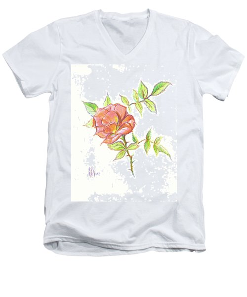 A Rose In Brigadoon Men's V-Neck T-Shirt