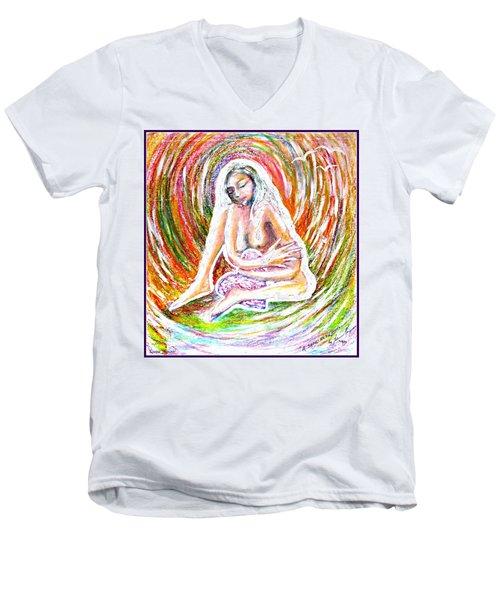 A Safe Heart Men's V-Neck T-Shirt