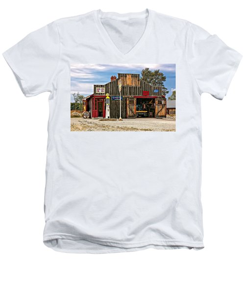 A Simpler Time 3 Men's V-Neck T-Shirt by Steve Harrington