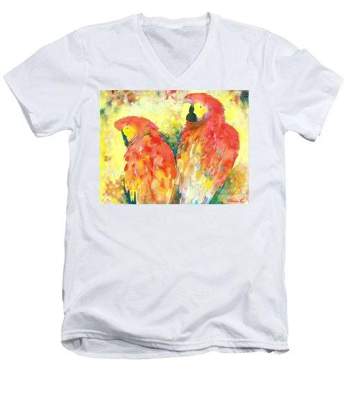 A Splash Of Crimson Men's V-Neck T-Shirt