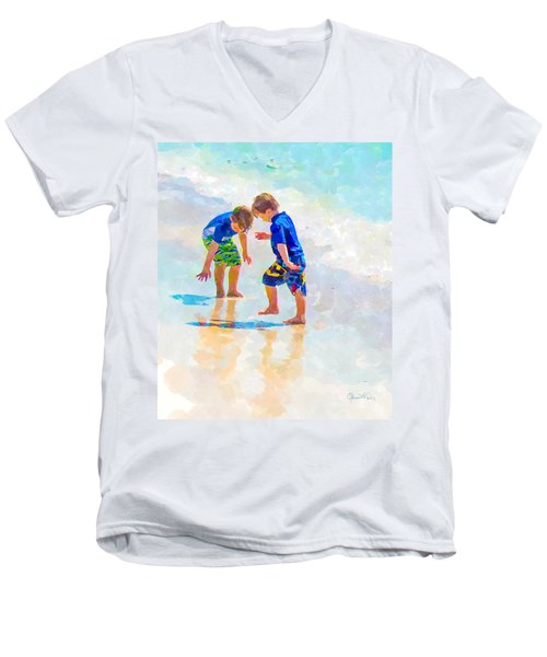 A Summer To Remember Iv Men's V-Neck T-Shirt by Susan Molnar