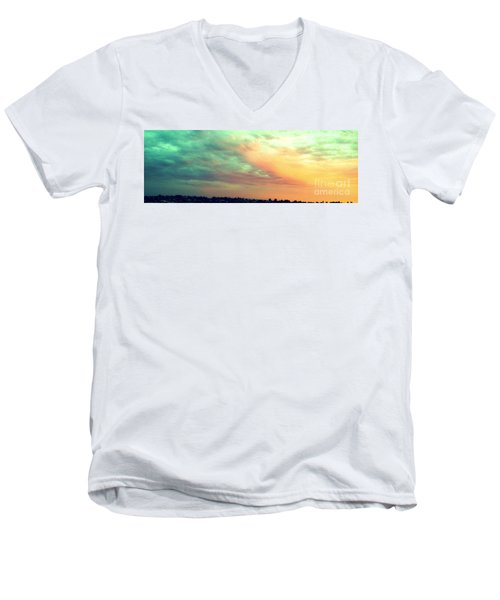 Men's V-Neck T-Shirt featuring the photograph A Sunset by Roberto Gagliardi