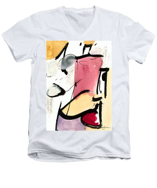 Men's V-Neck T-Shirt featuring the painting A Thing Of Beauty by Stephen Lucas
