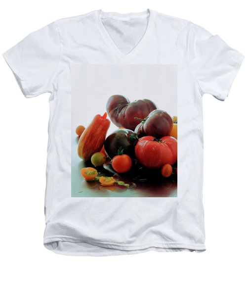 A Variety Of Vegetables Men's V-Neck T-Shirt