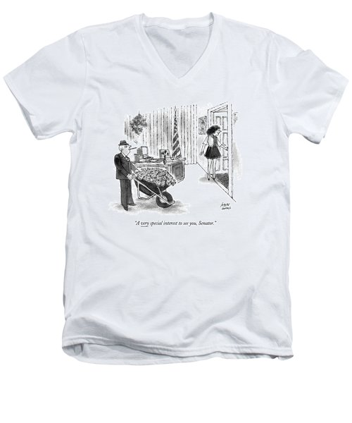 A Very Special Interest To See Men's V-Neck T-Shirt