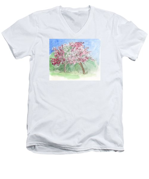 A Vision Of Spring Men's V-Neck T-Shirt