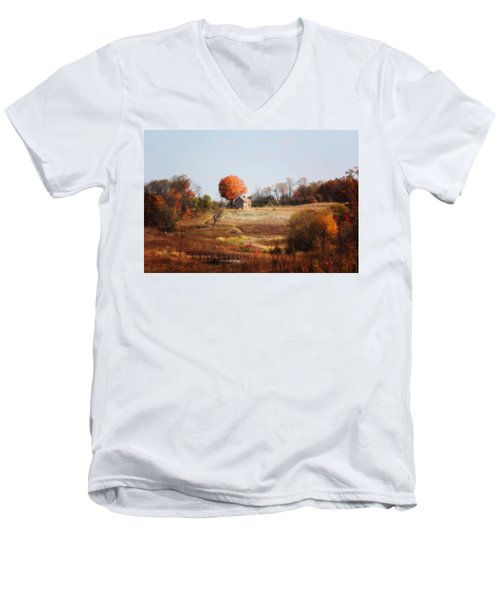 A Walk In The Meadow Men's V-Neck T-Shirt