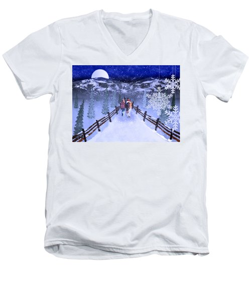 A Walk In The Snow 2 Men's V-Neck T-Shirt