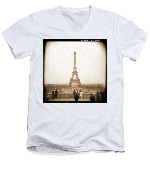A Walk Through Paris 5 Men's V-Neck T-Shirt
