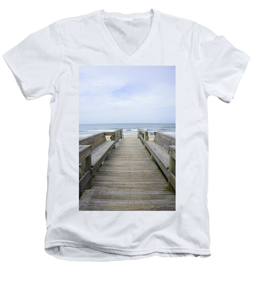 Men's V-Neck T-Shirt featuring the photograph A Welcoming View by Laurie Perry