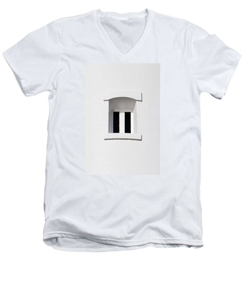 A Window In White Men's V-Neck T-Shirt by Wendy Wilton