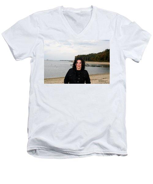 A Windy Day Men's V-Neck T-Shirt