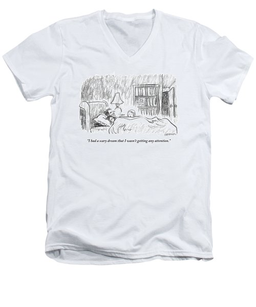A Young Girl Wakes Up Her Sleeping Parents Men's V-Neck T-Shirt