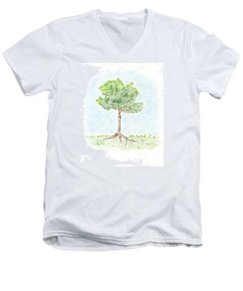 A Young Tree Men's V-Neck T-Shirt