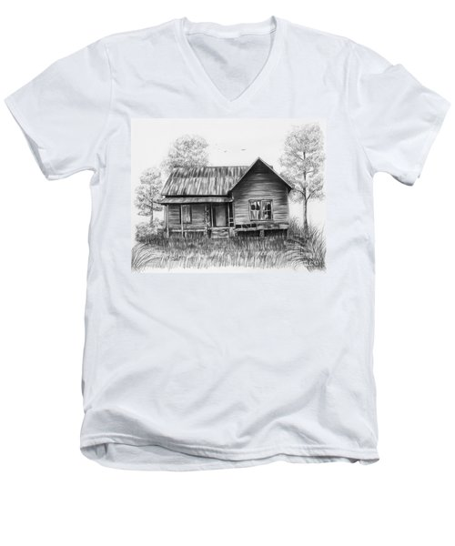 Abandoned House Men's V-Neck T-Shirt by Lena Auxier