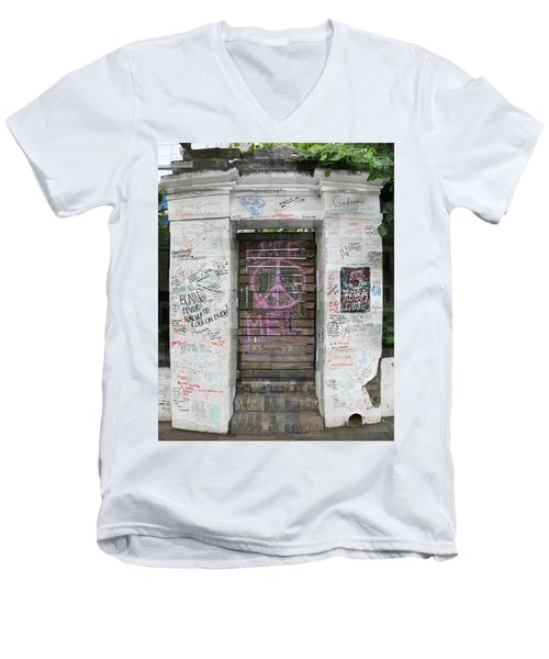 Abbey Road Graffiti Men's V-Neck T-Shirt