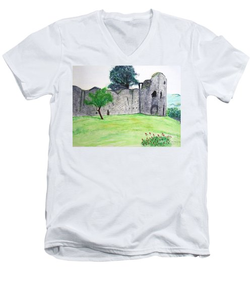 Abergavenny Castle Men's V-Neck T-Shirt